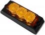 Blitzer gelb 3 LED, 12/24 V