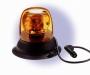 LED-Kennleuchte 155 mm, gelb, mit Magnet-Saugfuß, 12/24 V