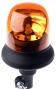 LED-Kennleuchte 257 mm, gelb, mit flexib. Adaptersockel, 12/24V